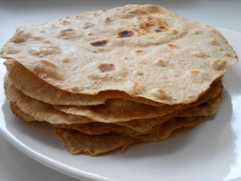 teljes kiőrlésű tortilla