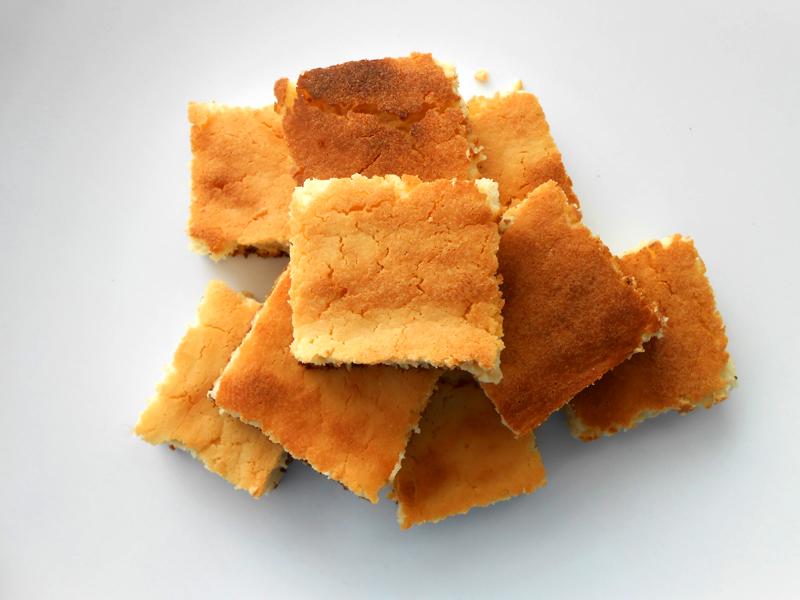 cukormentes vaníliás citromos túrókocka