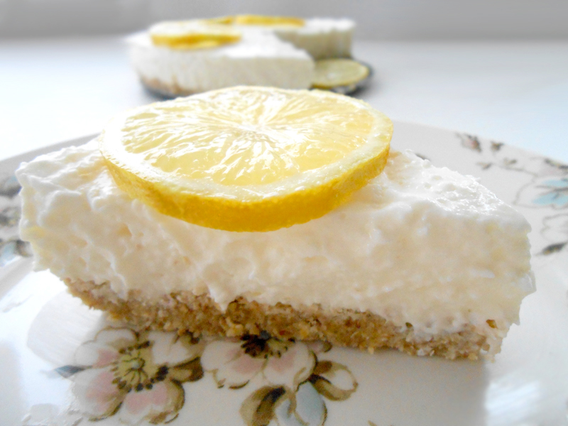 cukormentes citromos joghurttorta