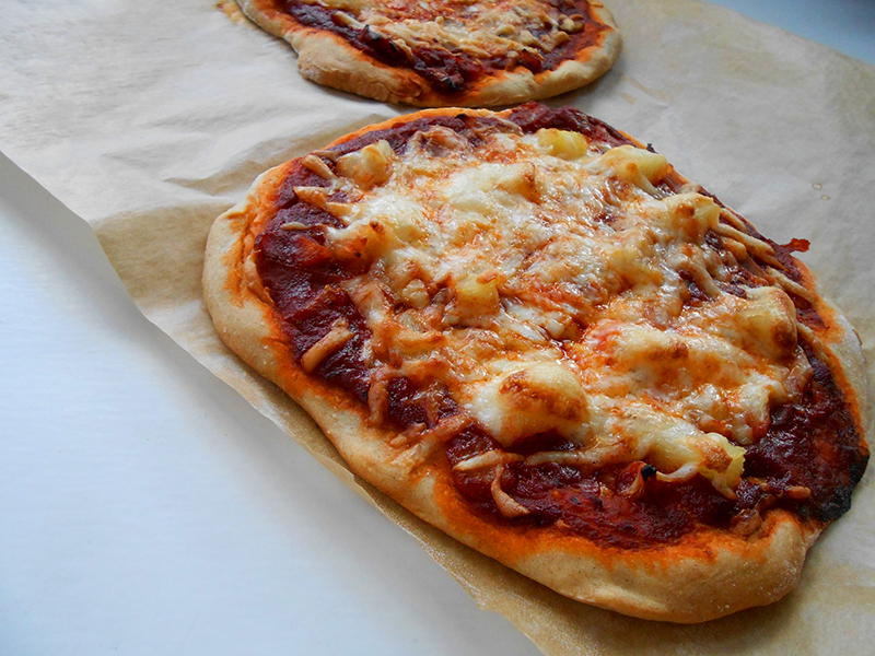 teljes kiőrlésű expressz pizza