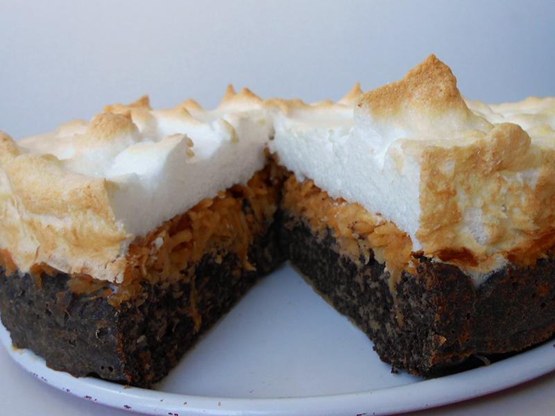 cukormentes gluténmentes habcsókos almás torta
