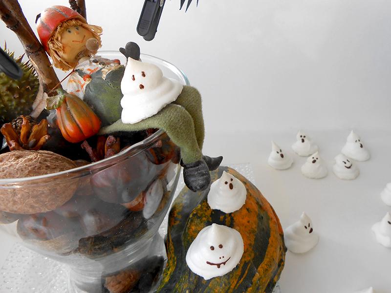 cukormentes szellem habcsók halloweenra