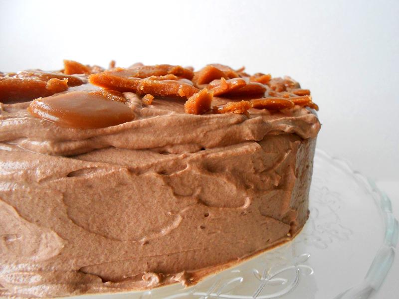 karamellás csokikrémes torta