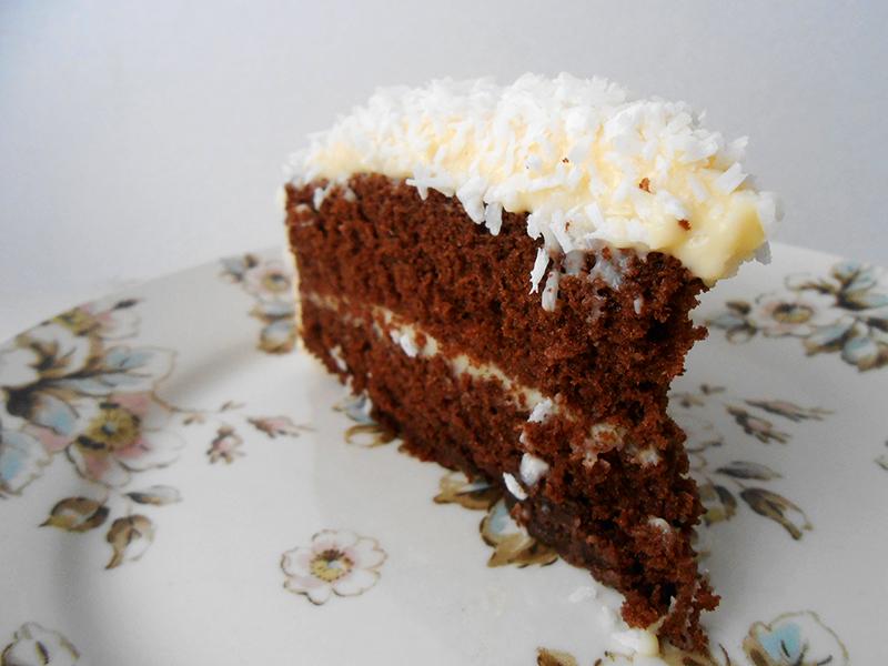 cukormentes kókuszos kakaós torta