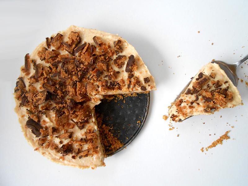 cukormentes mogyoróvajas sajttorta