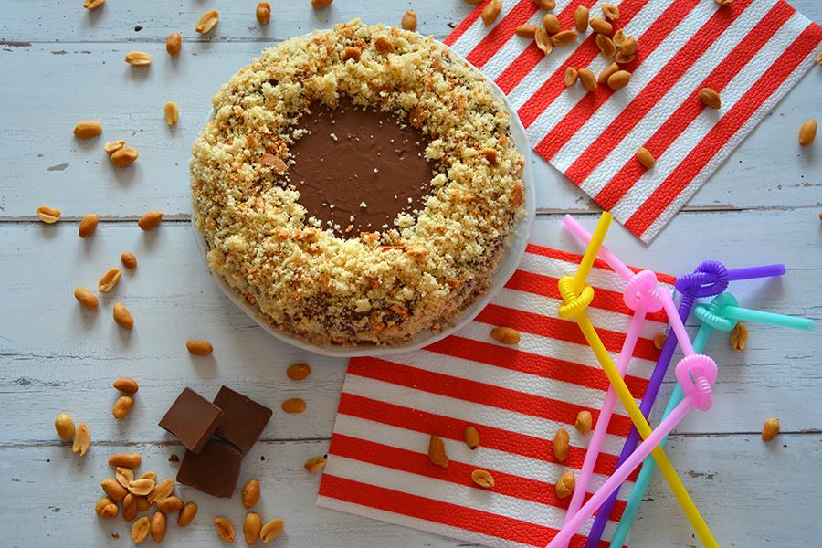 cukormentes mogyoróvajas csokis torta