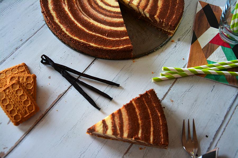 cukormentes csokis vaníliás zebra sajttorta