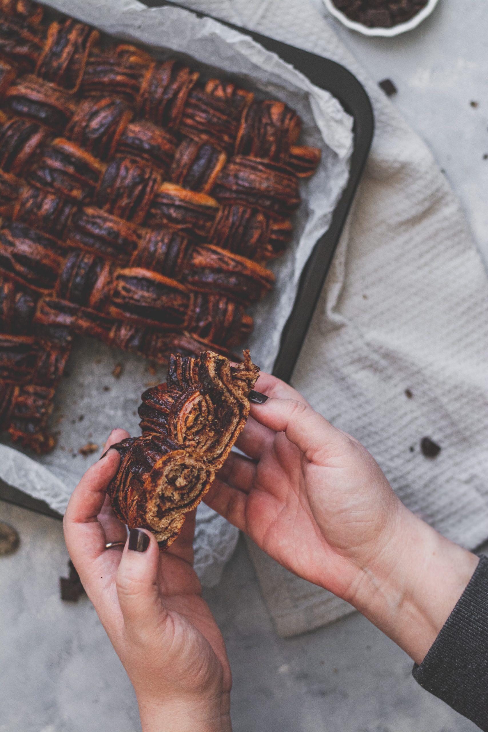 cukormentes teljes kiőrlésű csokis fonat