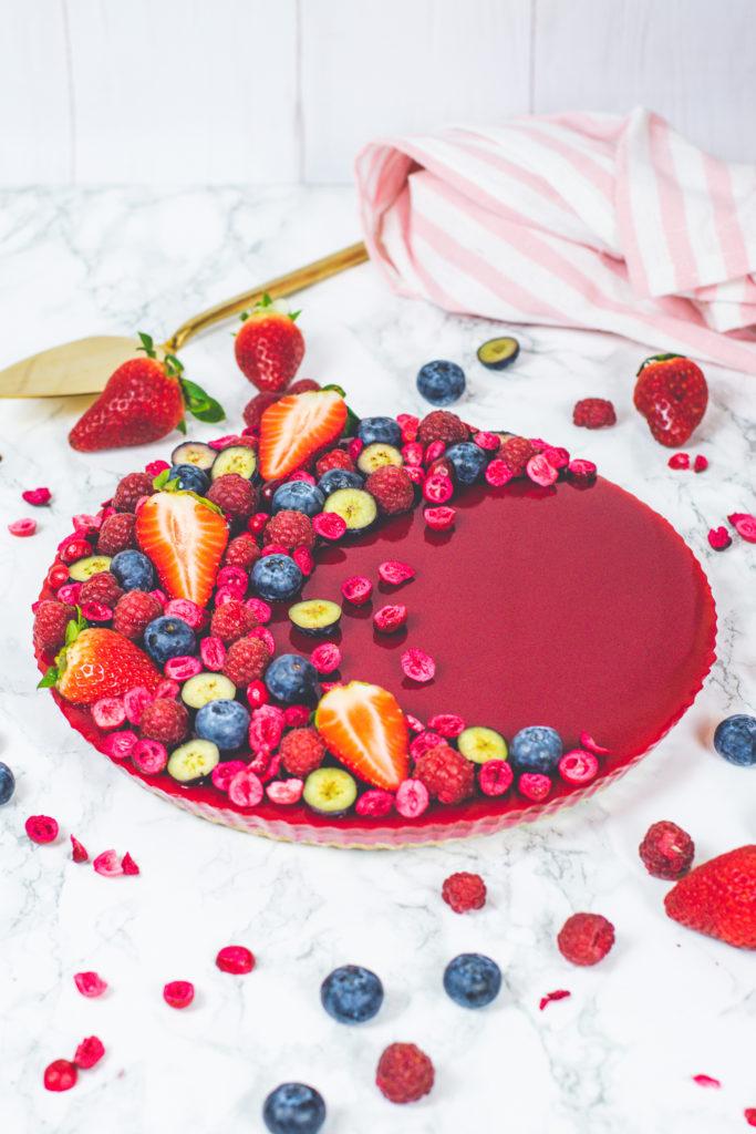 vegán gyümölcsös tart