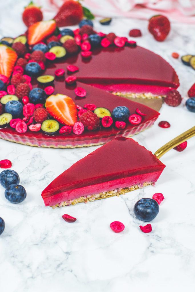 mindenmentes gyümölcsös vegán torta