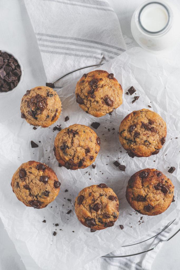 cukormentes banánkenyér muffin