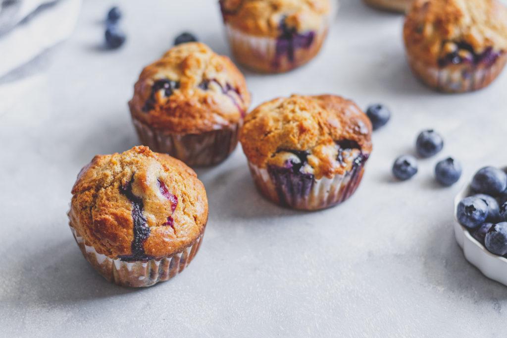 klasszikus áfonyás muffin
