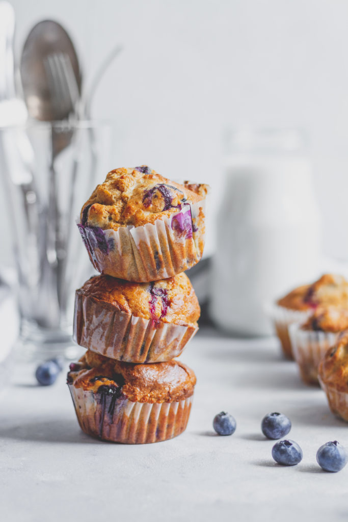 cukormentes áfonyás muffin
