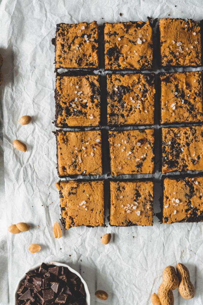 cukormentes mogyoróvajas brownie